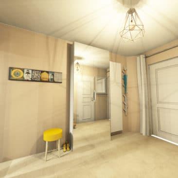 Gaëlle Maire - Architecte et décoratrice d'intérieur à Liège : Projet : Décoration intérieure d'un hall d'entrée : Photo avant
