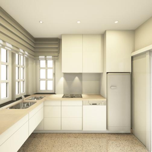 Aménagement d'une cuisine de 8m², Gaëlle Maire Architecte d'intérieur en région de Liège