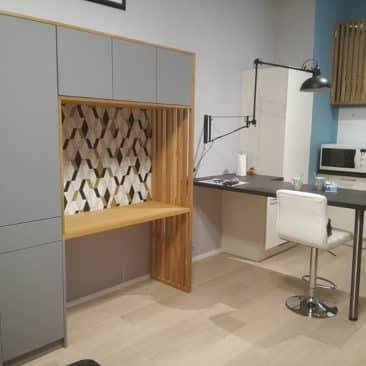 Gaëlle Maire - Architecte et décoratrice d'intérieur à Liège : Projet : Création d'un bureau sur mesure : Photo avant