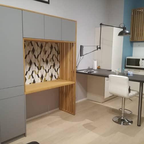 Bureau sur mesure espace salon