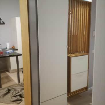 Gaëlle Maire - Architecte et décoratrice d'intérieur à Liège : Projet : Création d'une entrée avec un claustra : Photo avant