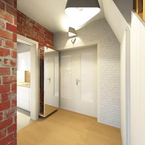 Hall d'entrée décoré en image réaliste 3D